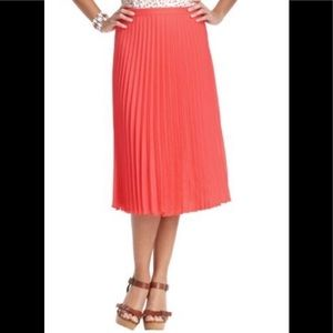 🌿Ann Taylor Coral Accordion Pleated Skirt 6